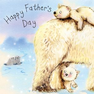 FIZ38 - Fathers Day Card Polar Bears